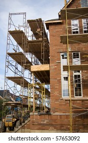 residential bulding scaffolding construction background