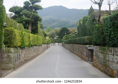Residential área of Chiran área in Minamikyushu city, Kagoshima prefecture, Japan.
