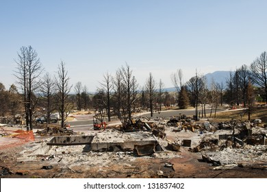 Residential community after Waldo Canyon Fire 2012 in Colorado Springs, Colorado.