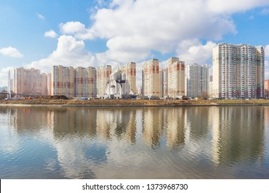 Residential complex Coastal on the river bank, Krasnogorsk, Moscow, Russia