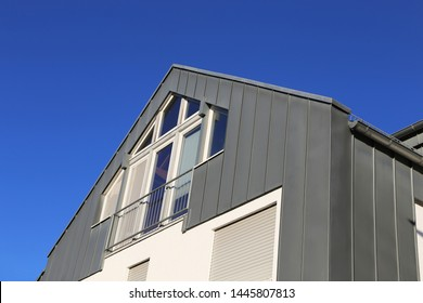 Residential home with modern standing seam facade