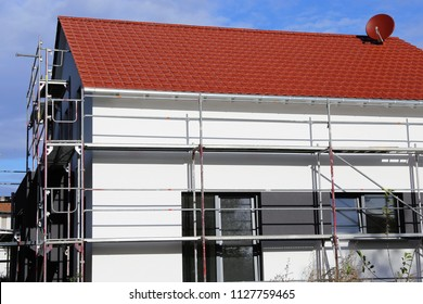 Residential home with new facade painting