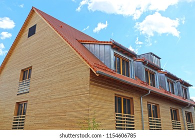 Residential home with wooden facade