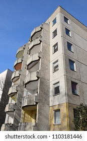 Residential house in concrete element construction of the former GDR