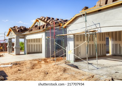 Residential house under construction.