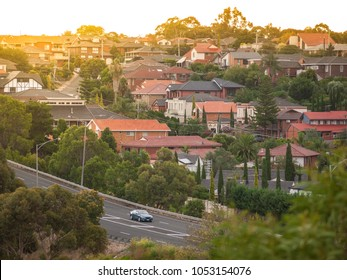 Residential houses in Melbourne's suburb. Moonee Valley, VIC Australia.