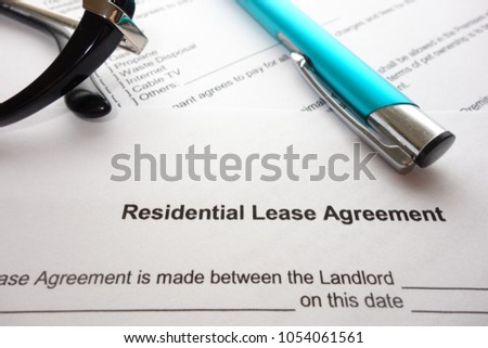 Residential Lease Agreement Document On Lawyers Stock Photo Edit
