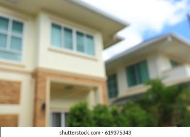 residential modern house property, image blur defocused background