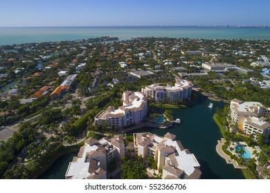 Residential neighborhood in Key Biscayne Florida