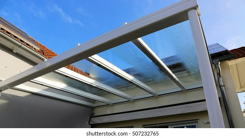A residential patip or terrace canopy