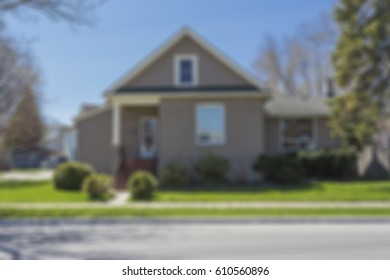 residential property with a simulated out of focus filter