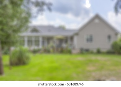 residential property in a simulated out of focus blurred photo