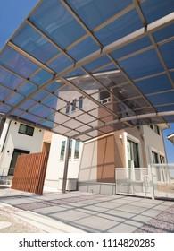 Residential roof garage