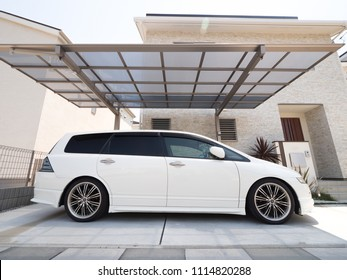 Residential roof garage