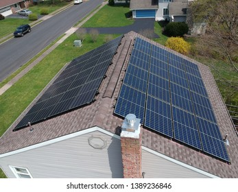 Residential Solar Panels installed on a home roof