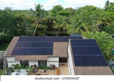 Residential solar system design. All black panels.