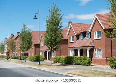 Residential street with modern houses , England