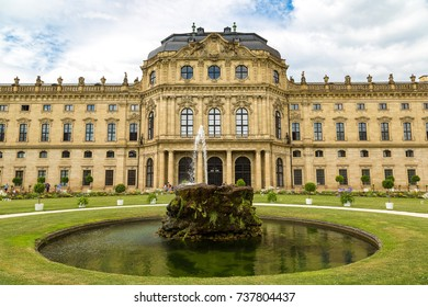 Residenze Palace in Wurzburg in a beautiful summer day, Germany