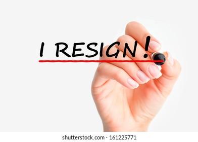resignation decision