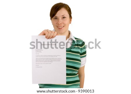 Resignation Letter Hold By Happy Exemployee Stock Photo Edit Now