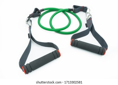 Resistance bands isolated on the white background.
