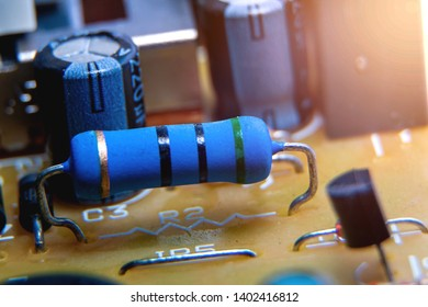 Resistor on Electronic circuit board,use for wallpaper, used as illustrated book,closeup