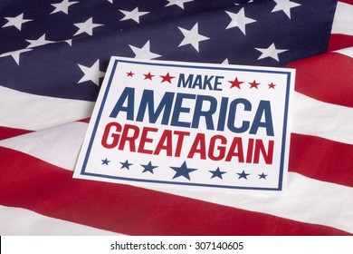 resolution american flag with sign Make America great again