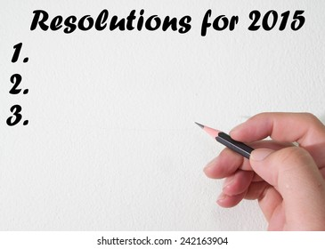 resolutions for 2015 text write on wall