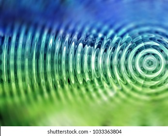 Resonate ,spread, vibration or ripple abstract in green.