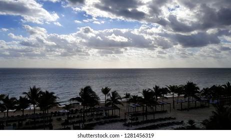 Resort beach at dawn