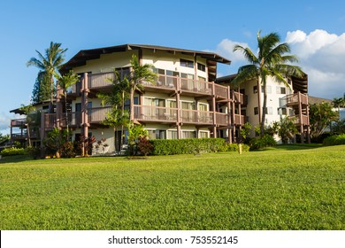 Resort building on the island Kauai, Hawaii