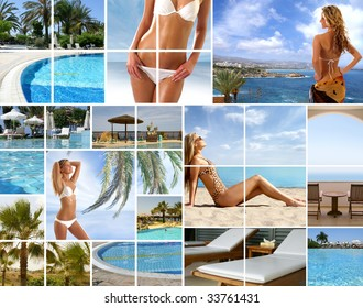Resort collage made of Cyprus photos