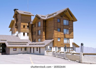Resort hotel at Vale Nevado, Chile