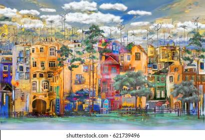 Resort Italian town