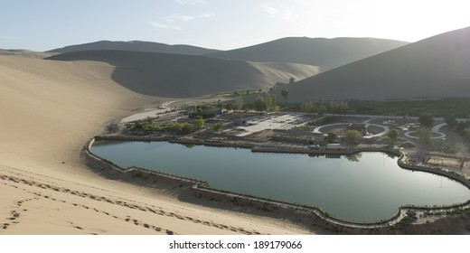 Resort at Mingsha Shan, Gobi Desert, Dunhuang, Jiuquan, Gansu Province, China