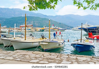 The resort offers many attractions, the trips along the coast, fishing and visiting the islands on the small boats and yachts are the most popular here, Budva, Montenegro.