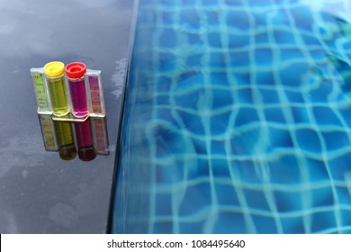 Resort Private pool has weekly check maintenance test, Ph chlorine and bromide levels, to make sure water is clean and can swim