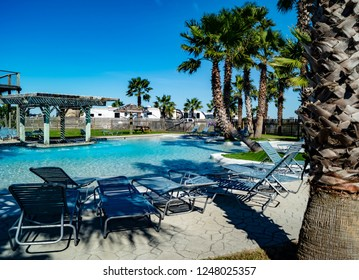 Resort style swimming pool located in an RV park
