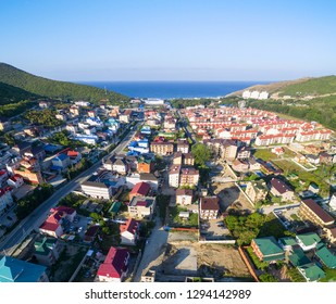 The resort town between the mountains. Sukko. Russia