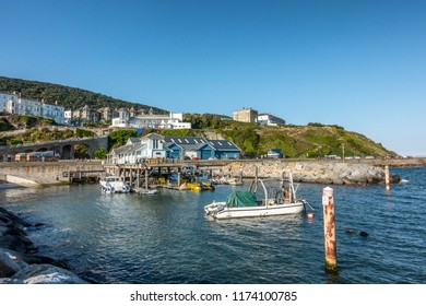 The resort of Ventnor on the Isle of Wight in England