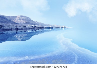 resorts of the Dead Sea in Israel in the summer vacation