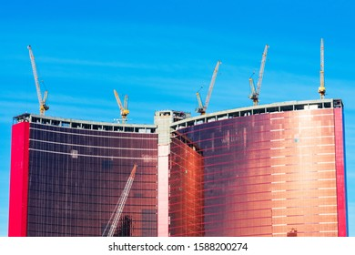 Resorts World Las Vegas is a hotel and casino currently under construction on the Las Vegas Strip - Las Vegas, Nevada, USA - December, 2019