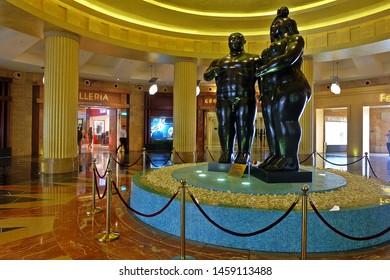 Resorts World Sentosa, Singapore - July 23, 2019: Portrait of interior hotels in Resorts World Sentosa Singapore.