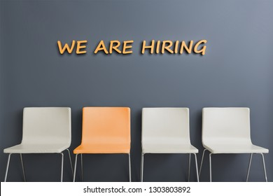 resources job employment career jobless recruitment interview business applicant hiring talent design hire chair white minimalism sitting blank space headhunting concept