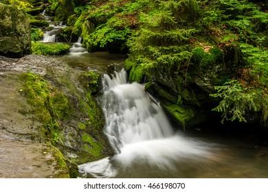 Resovske waterfalls, Jeseniky mountains, Czech republic