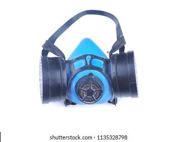 respirator on white background