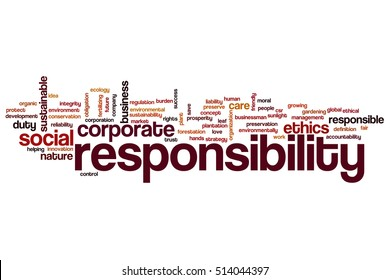 Responsibility word cloud concept