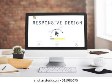 Responsive Design Website Template Layout Concept