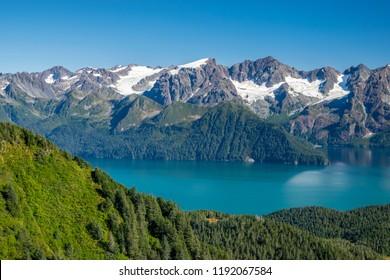 Ressurection bay and surrounding mountains, Seward, Alaska