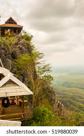 Rest house on cliff at Lampang province in Thailand.
